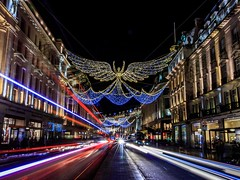 City Of Angels (Crazy Tuesday - Things With Wings) (CJD imagery) Tags: canonefs18135mmf3556isstm canoneos80d nightphotography lighttrails longexposure streetphotography city christmaslights festive thingswithwings crazytuesday london regentstreet england gb greatbritain uk unitedkingdom