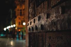 Valencia door - Torres de Serranos (Sonia gsgs) Tags: door fort wall oldcity valencia bokeh wood old urban urbanshots urbancity urbanphotography streetphotography streetshots sonya6000 1650mm pov dof citylights