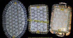 فكرة رائعة لصنع مفارش صينية القهوة تحفة بادوات غير مكلفة مشروع مربح في البيت (ezo-handmade) Tags: اشغال يدوية افكار منزلية الطرز و الخياطة صنع مفارش الصينية