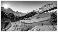 Morning Sun In Praxmar (galvanol) Tags: skiing landscape olivergalvan alpine nature austria mountains panorama skitour snow sellrain sledging winter hiking skitouring bw tyrol sport galvanol alpsintyrol blackandwhite canon2470mmf28liiusm