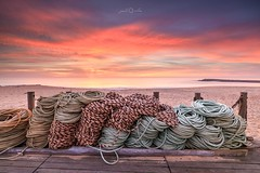 Espinho, Portugal (paulosilva3) Tags: sunset beach ropes seascape colors clouds filters lee progrey manfrotto lowepro canon eos 5d mk iv espinho portugal