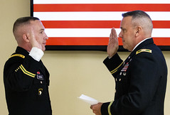 Promotion Ceremony (PublicAffairs200) Tags: usar armyreserve soldier 200mpcom lethal capable combatready army warrior battle assemble readiness range qualification militarypolice mp promotion ceremony fortmeade md us