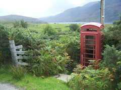Red Telephone Box, Badralloch, West Highlands of Scotland, Aug 2018 (allanmaciver) Tags: red telephone box badralloch west highlands scotland iconic unique sorry fearns hidden working buzz allanmaciver
