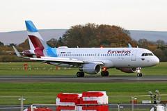D-AEWO Airbus A320-214S Eurowings MAN 14NOV18 (Ken Fielding) Tags: daewo airbus a320214s eurowings aircraft airplane airliner jet jetliner