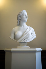 Seems So Bright (dayman1776) Tags: gibbes art museum neoclassical classical marble sculpture sculptor escultura statue statues stone nude goddess god faith hiram powers breast naked american usa charleston south carolina portrait crown