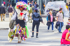 Fashion statement or what? (Frank Fullard) Tags: frankfullard fullard candid street portrait newyork bigapple manhattan fashion whatever colour color rags material us usa america lol fun
