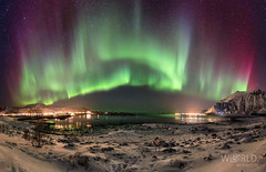 Northern lights over Fredvang