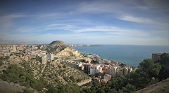 Panorama north of Alicante (roomman) Tags: 2018 spain alicante panorama castle kastell hill mountain north tram rail rails railway sea ocean water port harbour med mediterranean sun sunny weather climb hike hiking walk walking old ancient santa barbara santabarbara fort fortress