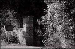 Lavaré (Sarthe) (gondardphilippe) Tags: lavaré sarthe maine paysdelaloire noiretblanc nb noir blanc blackandwhite bw black white architecture bâtiment campagne extérieur graphique monochrome mur outdoor ombre quiet rural symétrie texture vieux zen