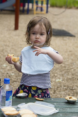 eating mince pies (louisa_catlover) Tags: portrait family child toddler daughter tabitha tabby park playground outdoor