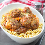Meatballs with Tomato Sauce and Cheese on Pasta thumbnail