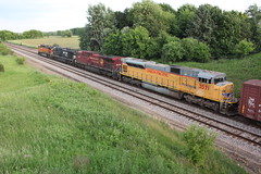 Variety special (MILW157) Tags: cooney siding train bnsf ns up cp canadian pacific rail norfolk southern union bulington northern santa fe emd railroad