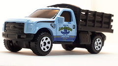 MATCHBOX FORD F-350 STAKE BED TRUCK NO10 LOS AMIGOS LANDSCAPING 1/64 (ambassador84 OVER 11 MILLION VIEWS. :-)) Tags: matchbox fordf350 stakebedtruck diecast ford