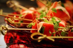 Prosciutto, watermelon and basil! (corineouellet) Tags: art good chef cook cooking plating focus canonphoto canon foodie foodies food yumyum yummy tasty prosciutto basil watermelon