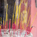 Burning Incense Sticks in a Sand filled Pot in Jade Emperor Pagoda in Saigon