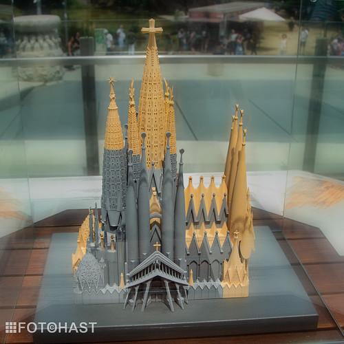 Maquette van de uiteindelijke kerk