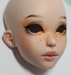 handcasted faceplate of Jeanne with makeup (Le Tama) Tags: bjd ball jointed doll balljointeddoll depths dolls depthsdolls tama jeanne msd resin polyurethane raouken corset exclusive convention pnw pacific northwest expo
