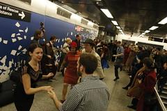 Swinging Platform (agent j loves nyc) Tags: nostalgiatrain vintagetrainswingdanceparty dance dancers dancing vintagetrain swingdanceparty secondavenuesubway subway mta nyc newyorkcity