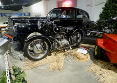National Packard Museum 01-03-2019 85 - 1955 BMW R25-3 (David441491) Tags: 1955bmwr253 motorcycle bike nationalpackardmuseum 1941packardmodel1908custonsuper8oneeighty car auto automobile