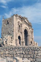 Hadrian's Arch at Mid Day (California Will) Tags: roman ruins jordan historic arch jerash middleeast grecoroman architecture