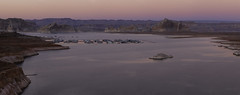 (maknsandwiches) Tags: page arizona az lake powell sunset december island boats marina cliffs view landscape red rock dirt canon tamron water calm wahweap