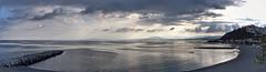PANO 19002 (anyera2015) Tags: ceuta canon 70d canon70d panorama panorámica playa chorrillo nublado nubes hdr canonef28135mm ice atardecer