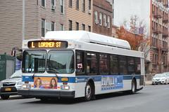 IMG_2759 (GojiMet86) Tags: mta nyc new york city bus buses 2012 c40lf cng 385 subway shuttle metropolitan avenue leornard street