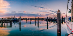 Summer days (Images by Ann Clarke) Tags: jan2019 marina panorama boats clouds portlincoln pylons reflections summer