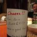Presente: vinho caseiro e desejo de boa viagem!