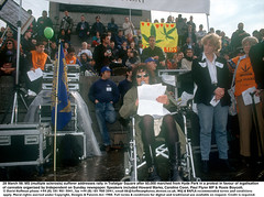 MS sufferer addresses rally (hoffman) Tags: balloon banner cannabis crowd decriminalise demonstration disability disabled dope drug drugs female handicap handicapped hash horizontal lady march muscularschlerosis muscularsclerosis pot protest rally speech spliff wheelchair woman 181112patchingsetforimagerights london uk