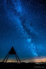 Milky-way on the top of Moléson (Switzerland) (christian.rey) Tags: gruyère moléson fribourg voielactée milkyway sony alpha a7r2 a7rii nigth stars préalpes mountains swiss 1635 sky