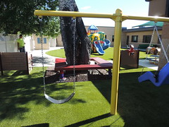 Child Development Center of Natrona County in Casper,  WY (ForeverLawn) Tags: playgroundgrass playgroundgrassbyforeverlawn foreverlawncentralwyoming flcontest2018 playgroundgrassultra adacompliantpark adaaccessible inclusiveplay swings swingset playground playgroundsafety outside park slide playset jungle gym outdoorplayground outdoorplayarea childdevelopmentcenterofnatronacounty