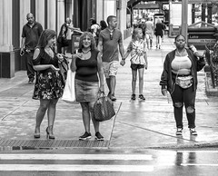 2 diffrent looks.... (Kevin Povenz Thanks for all the views and comments) Tags: 2018 july kevinpovenz illinios chicago windycity streetphotography street blackandwhite bw canon7dmarkii sigma24105art female girl sidewalk outside outdoors rainy rain wet curb woman women