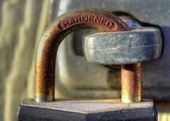 Macro Mondays - Hardened (zendt66) Tags: zendt66 zendt nikon d7200 macromondays safety lock padlock hdr photomatix rust hardened