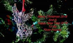 Holiday Greetings 2018 (Susan Roehl) Tags: christmasthrutheyears merrychristmas happynewyear ornamentontree angel holidaygreetings newyear2019 sueroehl panasonic lumixdmcgx8 35x100mmlens handheld