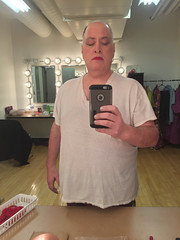 Day 2491: Day 301: Man in the mirror (knoopie) Tags: 2018 october iphone picturemail doug knoop knoopie me selfportrait 365days 365daysyear7 year7 365more day2491 day301 dressingroom theater casavalentina ericksontheatre