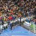 Einlaufen der Deutschen Mannschaft auf das Handballfeld an Handball Weltmeisterschaft 2019