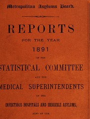 "This image is taken from Reports for the year 1891 of the statistical committee and the medical superintendents of the infectious hospitals and imbecile asylums, also of the ambulance & training ship ""Exmouth"" committees (6th year of issue) (Medical Heritage Library, Inc.) Tags: eastern hospitals london england northwestern fever hospital western southwestern southeastern northern gore farm darenth atlas ship endymion castalia leavesden asylum metropolitan district caterham school for imbeciles exmouth psychiatric chronic disease smallpox scarlet typhoid diphtheria wellcomelibrary ukmhl medicalheritagelibrary europeanlibraries date1892 idb30300174"