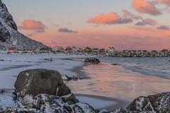 Morning light in Eggum, Lofoten (Petra S photography) Tags: lofoten lofotenislands eggum norge vestvågøya morninglight pinklight norway nordnorwegen morgenstimmung beforesunrise nordland beach beautifullight