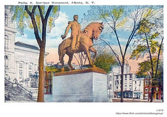 c1918 philip sheridan statue (albany group archive) Tags: albany ny history capitol park philip sheridan statue c1918 early 1900s old vintage photos picture photo photograph historic historical