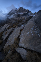 L'Empire des Loups (DBPhotographe) Tags: taillante queyras col agnel mountain snow frost french alps rocks blue hour dusk summit peak