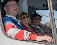 Stan and June Chapman ride with Liz Dietz (American Red Cross of Silicon Valley) Tags: americanredcross siliconvalleychapter veteransdayparade sanjose markbutler