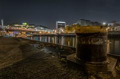Schiffbauerdamm ,Berlin (karstenlützen) Tags: germany berlin schiffbauerdamm spreeriver river riverside waterfront jetty bluehour sonyflickraward