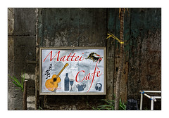 Napoli Walls 3: Matéi café (Jean-Louis DUMAS) Tags: street art artistic artiste artist artistique champagne napoli naples wall porte peinture murale bar mur peinturemurale villeitalie italia
