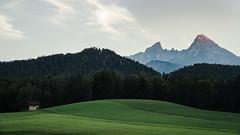 Desktop Wallpaper (der_peste (on/off)) Tags: mountains alps bavaria germany watzmann rollinghills wallpaper cabin woods landscape