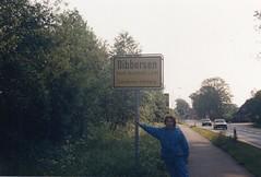 1987 Germany // Fernwanderweg E1 (1987-Tour 2) // Buchholz Dibbersen // Ich (maerzbecher-Deutschland zu Fuss) Tags: europäischerfernwanderwege1 e1 maerzbecher deutschland germany wanderwege 1987 weitwanderweg fernwanderweg deutschlandmitdemrad niedersachsen rosi buchholz dibbersen