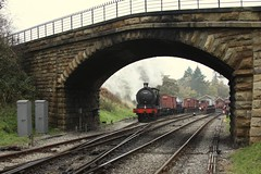 Goathland shunting (feroequineologist) Tags: 65894 j27 goathland lner railway train steam nymr northyorkshiremoorsrailway