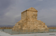 001 Tomb of Cyrus The Great, Pasargadae (2) .JPG (tobeytravels) Tags: cyrus dashtimurghab achaemenid elamite elam pasargadai solomonsmother herzfeld stein alexanderthegreat tombchamber plinth ashlar