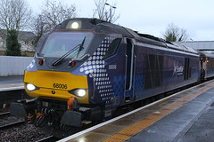 68006, Inverkeithing, March 2nd 2016 (Southsea_Matt) Tags: 68006 class68 drs directrailservices vossloh eurolight scotrail abellio inverkeithing fife scotland unitedkingdom diesellocomotive train railway railroad engine station passengertravel publictransport vehicle