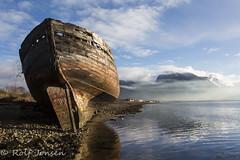 Corpach ship wreck (rjonsen) Tags: fort william scotland alba sea water mist munro ben nevis mountain reflection boat